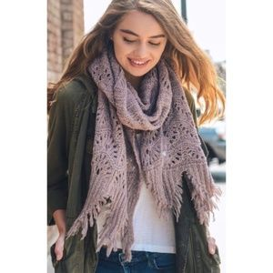 🏷Lavender Feather Knit Boho Scarf *Couture Gypsy*